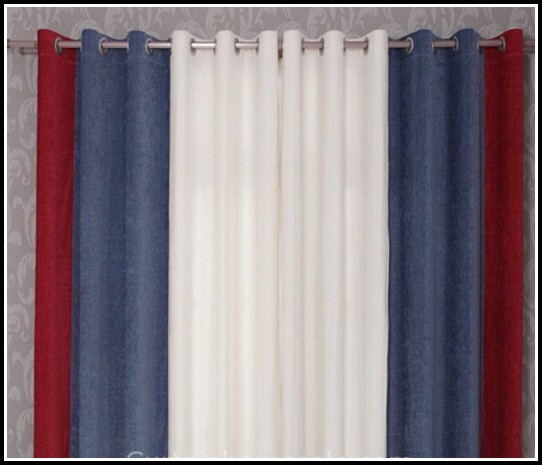 Red White Blue Curtains