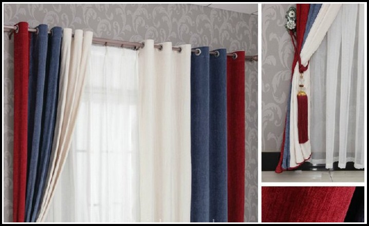 Red White Blue Striped Curtains