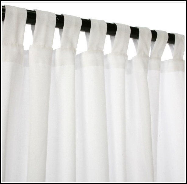 Tab Top Curtains White Sheer