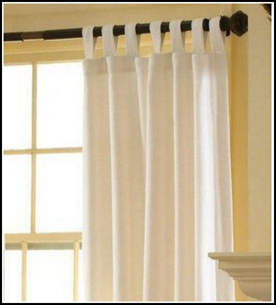 Tab Top White Voile Curtains