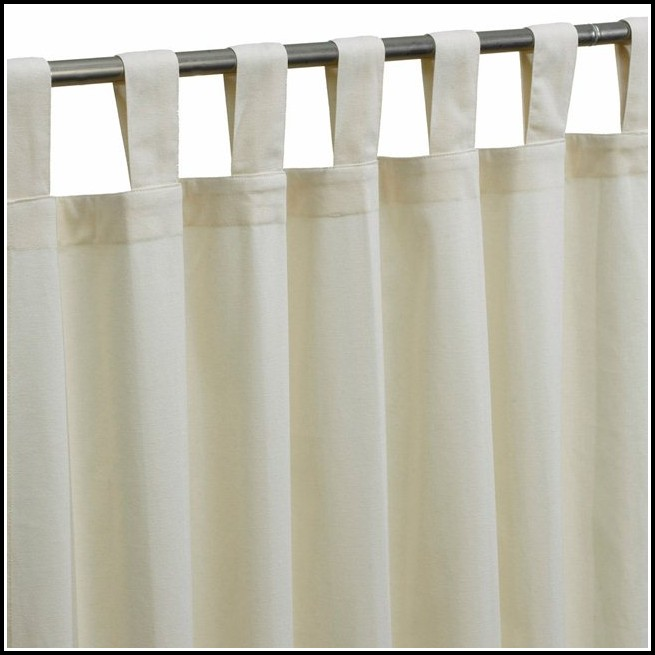 White Cotton Tab Top Curtains Uk