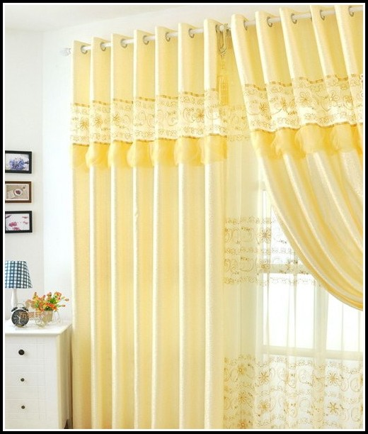 Yellow Blackout Curtain Panels