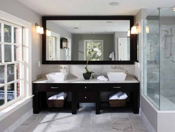 Farmhouse Double Sink Bathroom Vanity