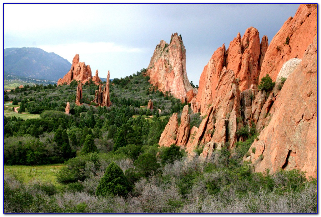 Garden Of The Gods Colorado Map