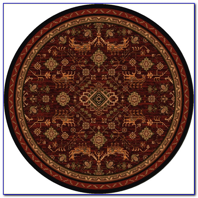 8 Ft Round Wool Rug