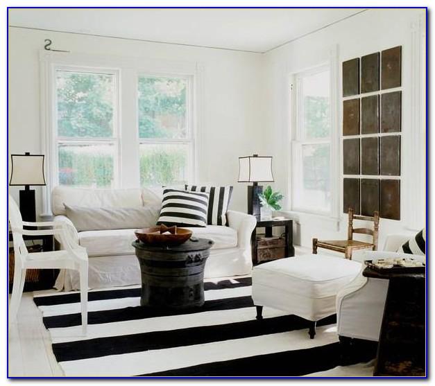 Black And White Striped Rug Ebay