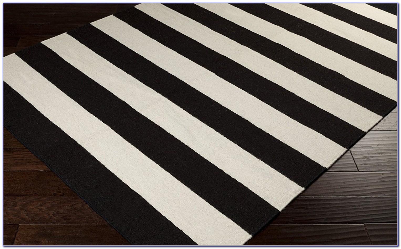 Black And White Striped Rug Runner