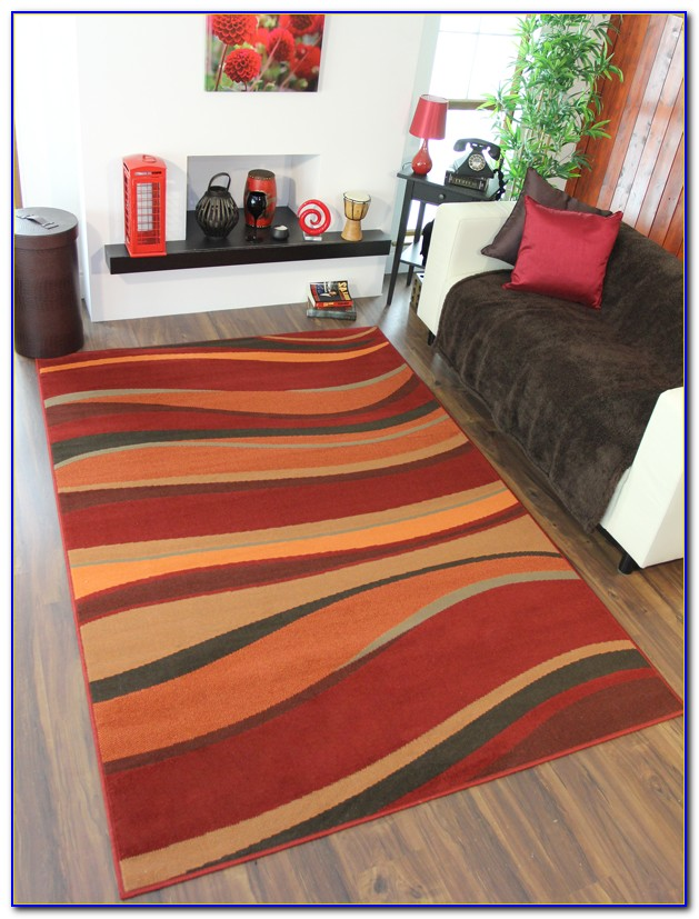 Burnt Orange Rug Runner
