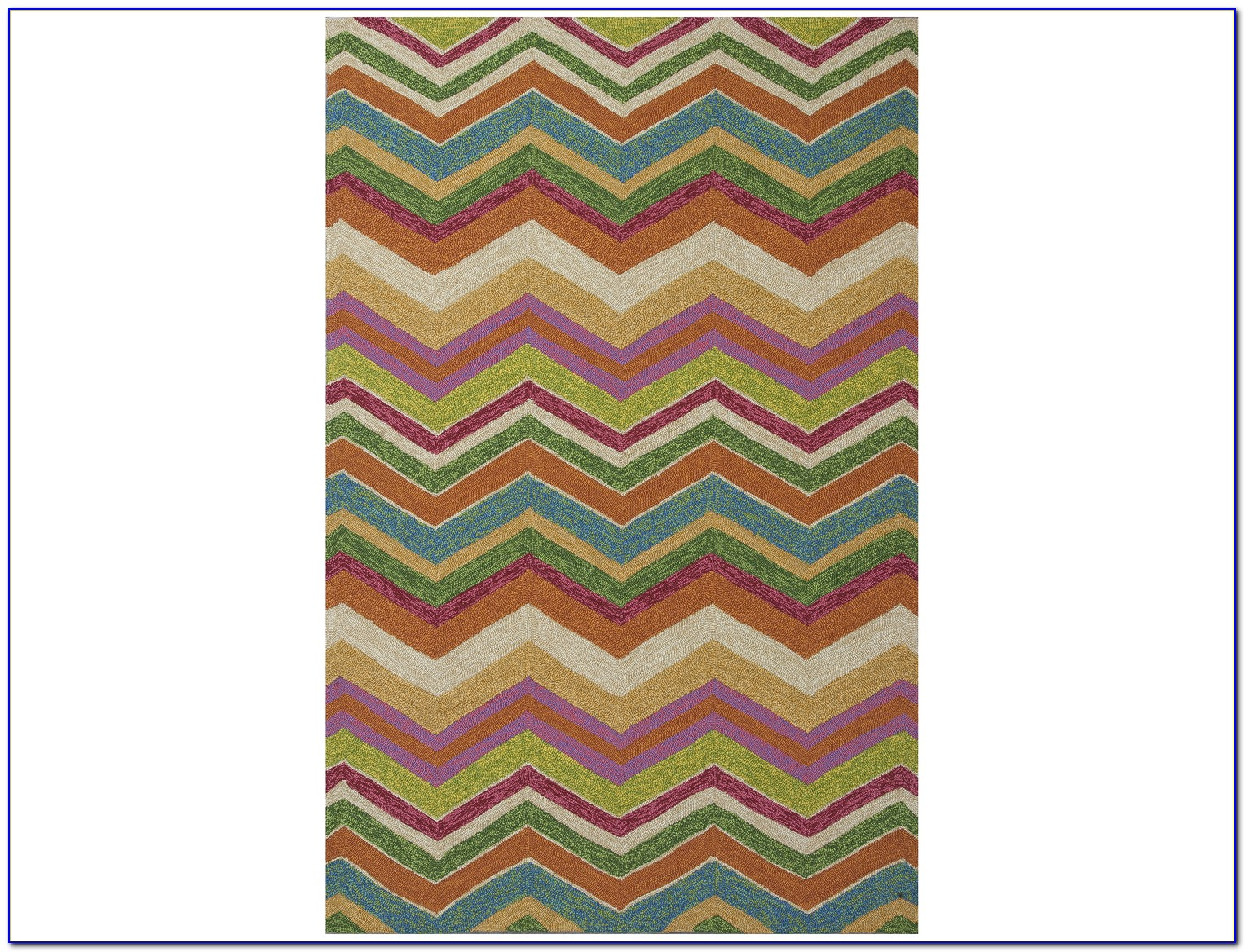Chevron Area Rug 5x8