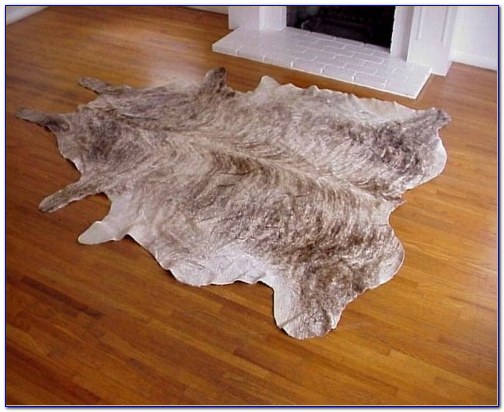 Faux Cowhide Rug Black