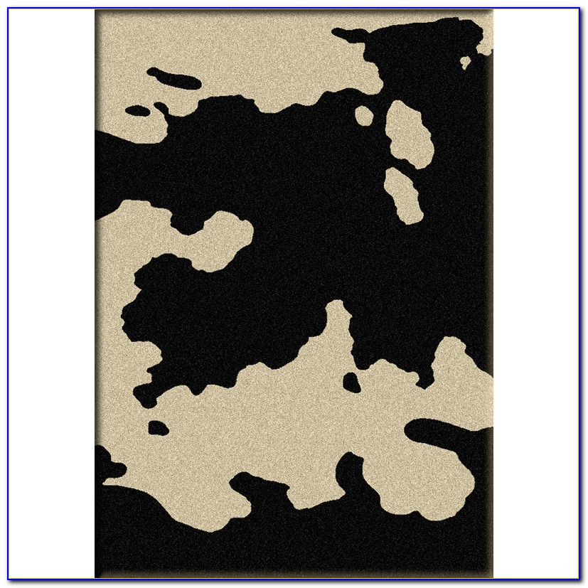 Faux Cowhide Rug Grey