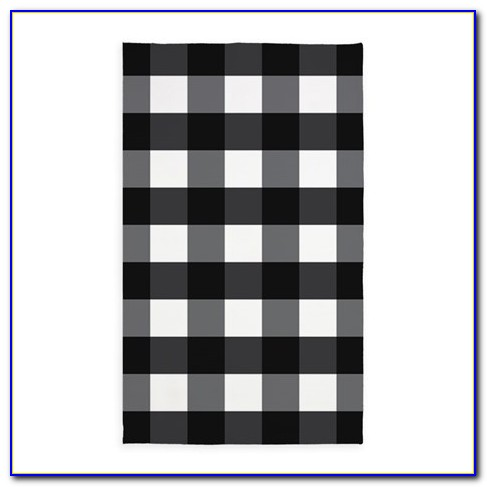 Ikea Black And White Checkered Rug
