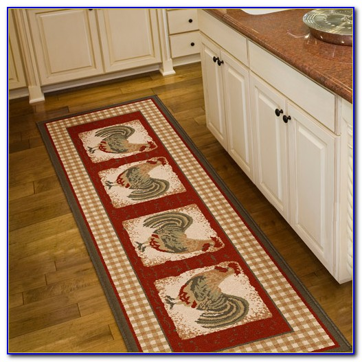 Large Rooster Kitchen Rugs