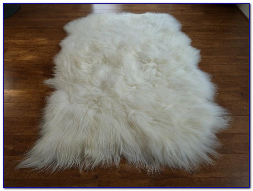 Large Sheepskin Rug Grey