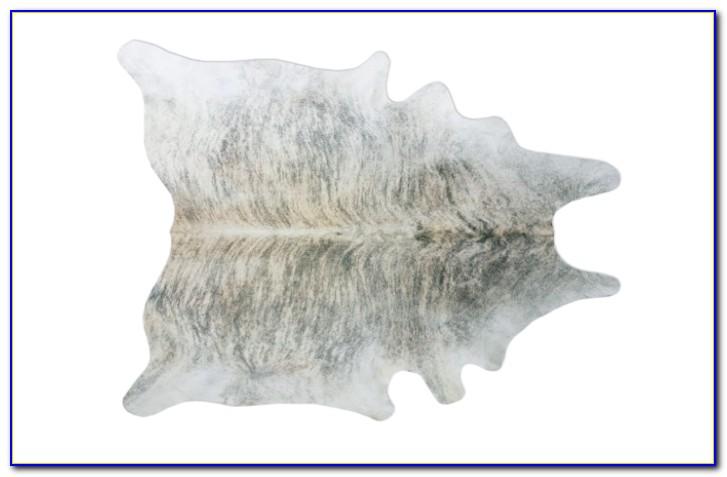 White Cowhide Rug West Elm