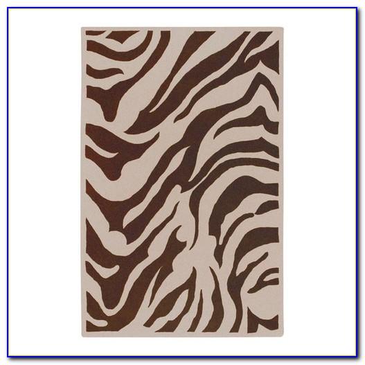 Zebra Area Rug 8x10