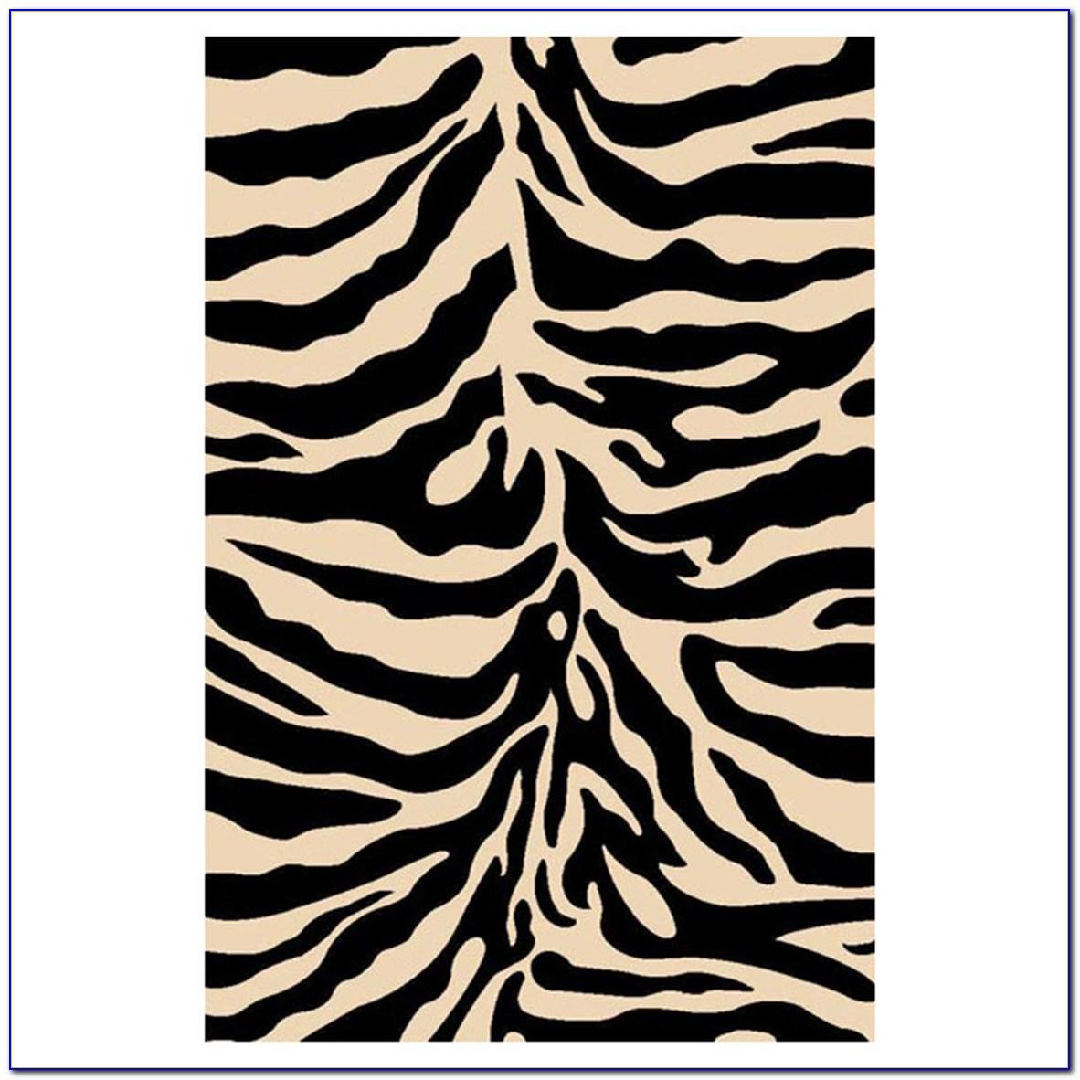 Zebra Area Rug Wool