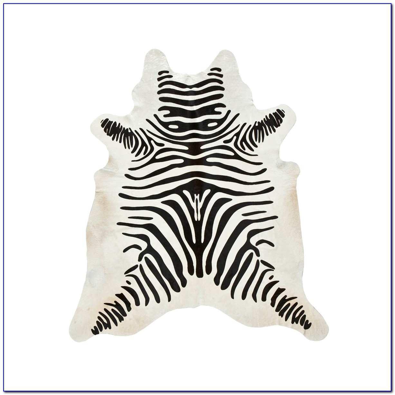 Zebra Cowhide Rug West Elm