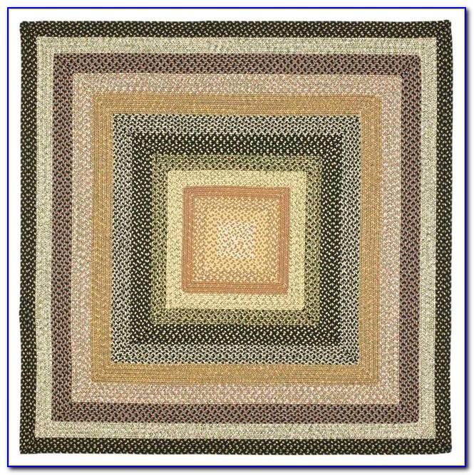 8x8 Square Braided Rug
