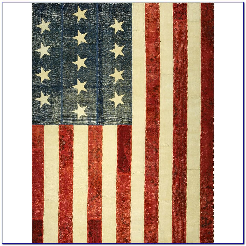 American Flag Rug 8x10