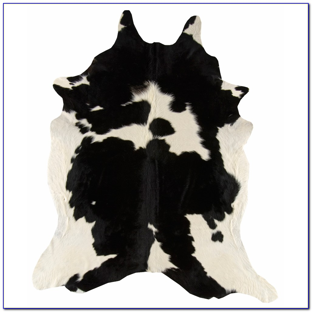 Black Faux Cowhide Rug