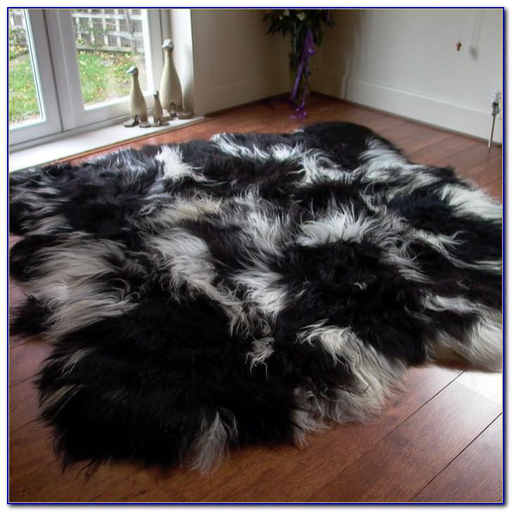 Black Sheepskin Rug Australia