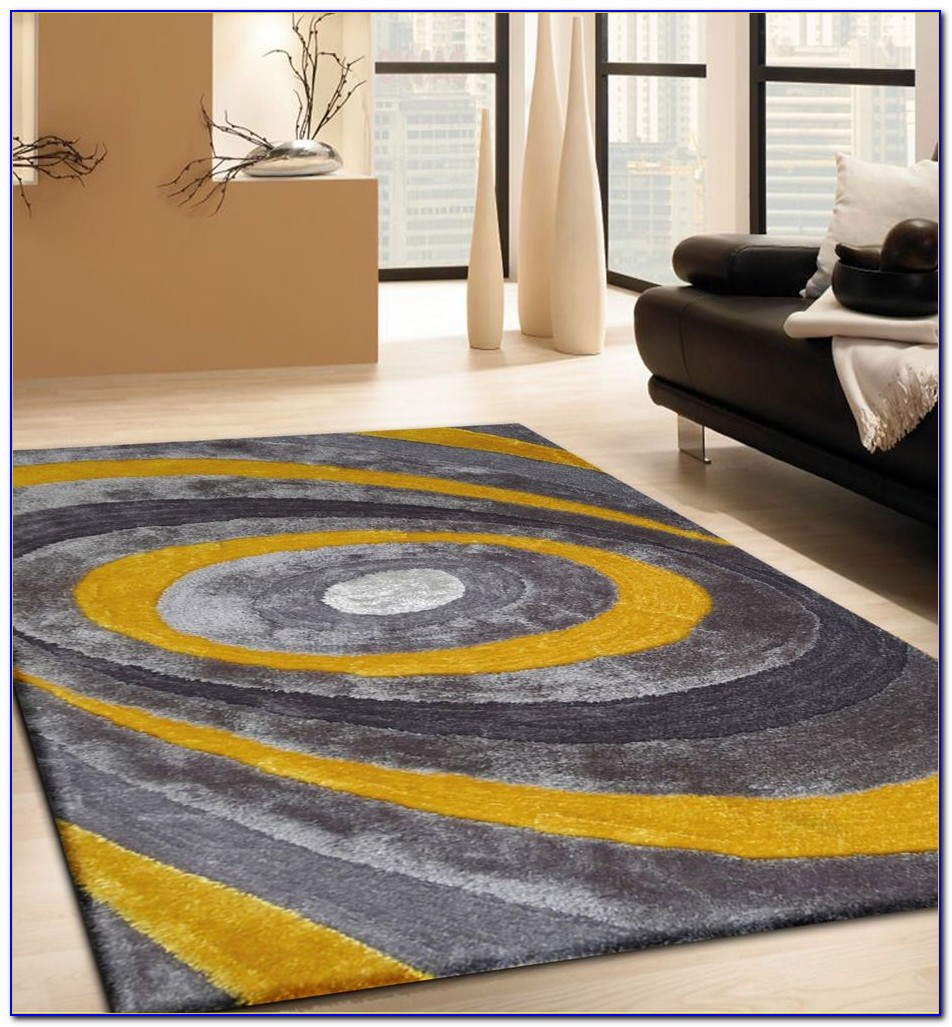 Blue And Yellow Runner Rug