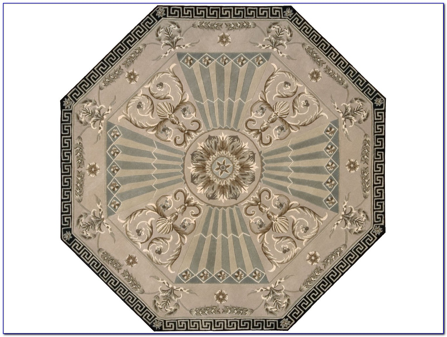 Blue Octagon Area Rugs