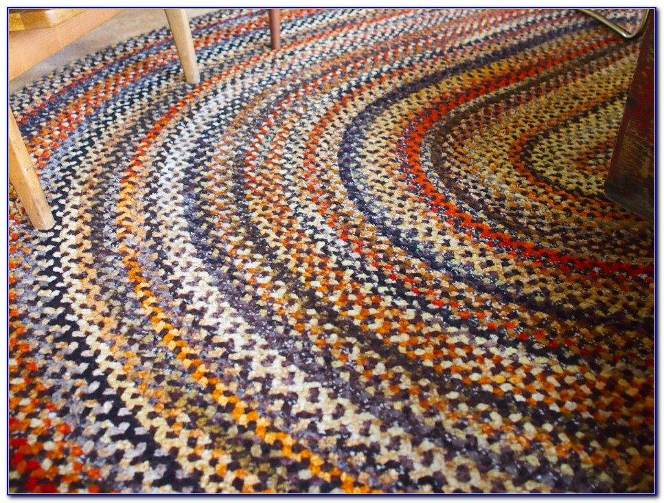 Braided Wool Rugs Round