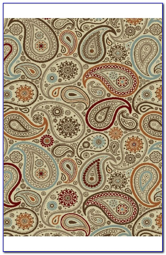 Bright Paisley Area Rugs