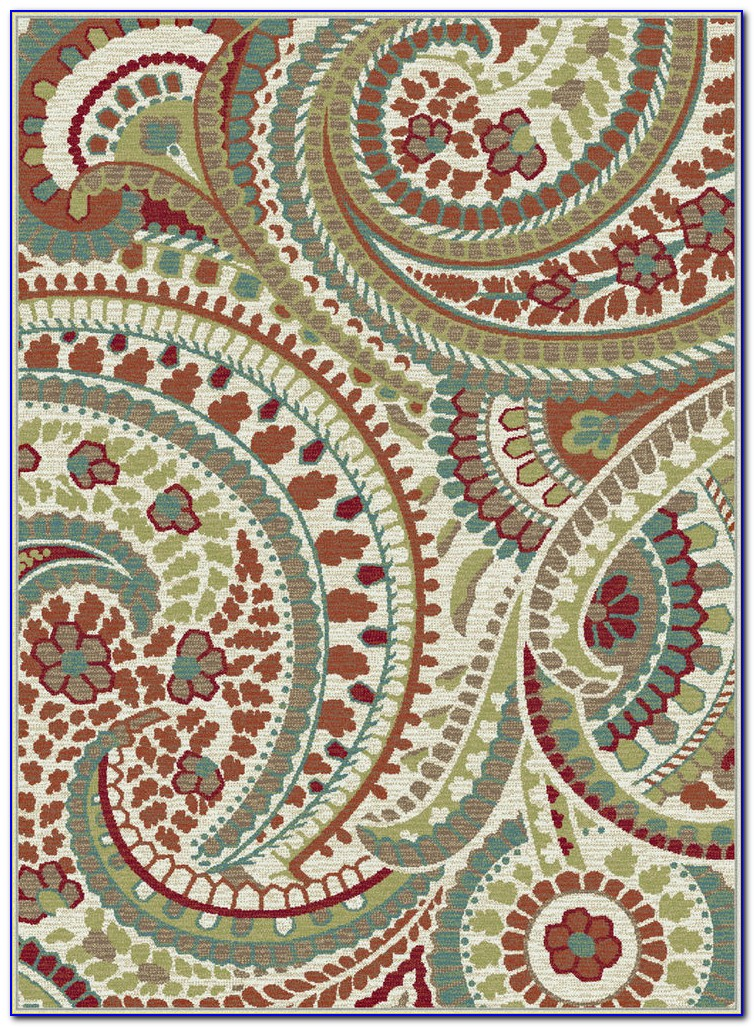 Brown Paisley Area Rugs