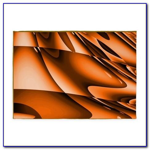 Burnt Orange And Cream Area Rug