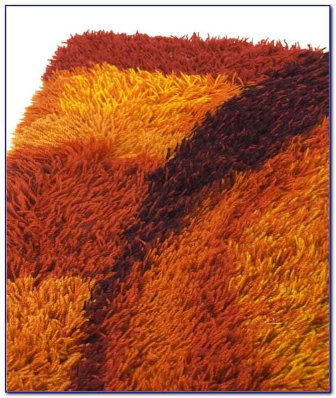 Burnt Orange Bathroom Rugs