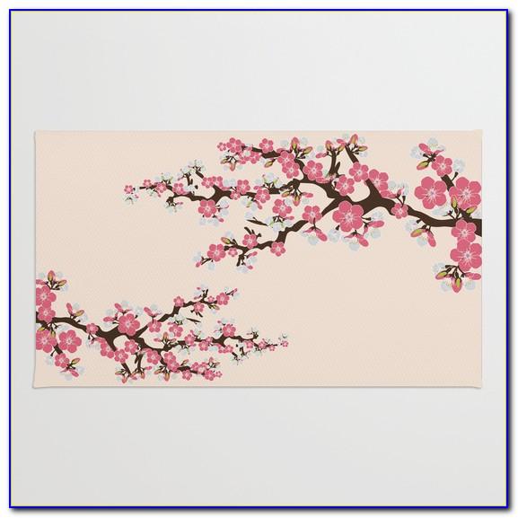 Cherry Blossom Rug Pottery Barn