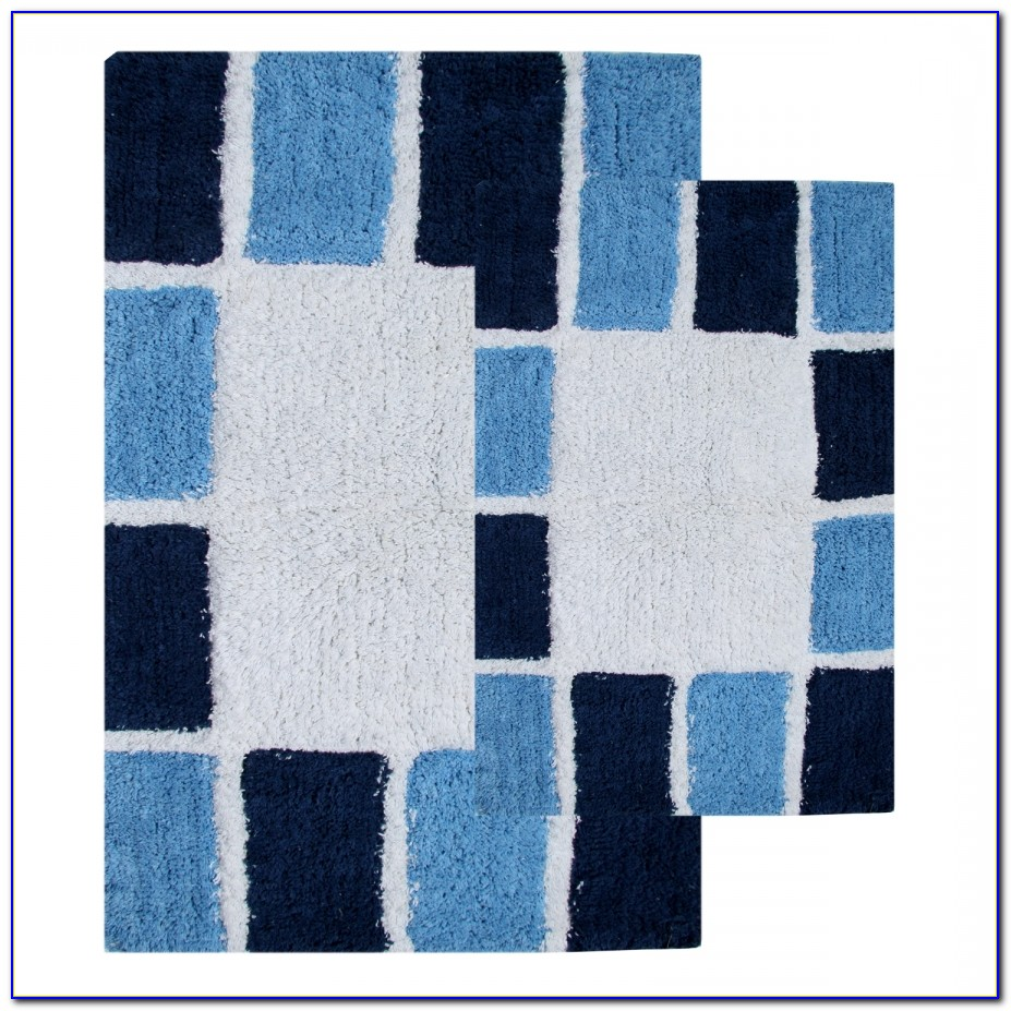 Dark Navy Blue Bath Rugs