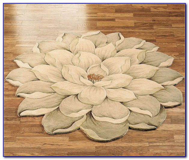Flower Shaped Rugs Yellow