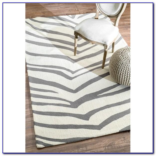 Gray Zebra Rug 8x10