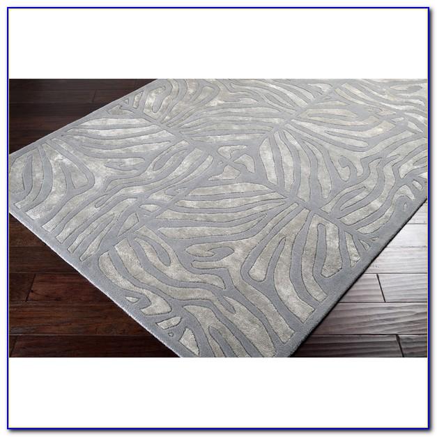 Grey Zebra Rug 8x10