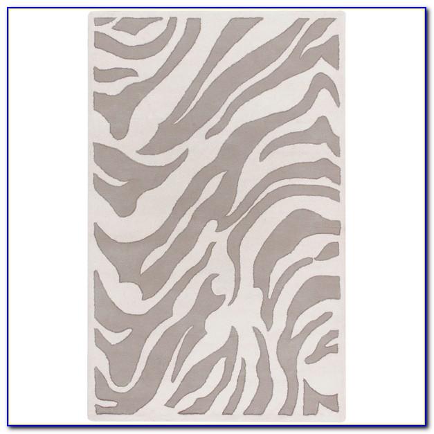 Grey Zebra Rug 9x12
