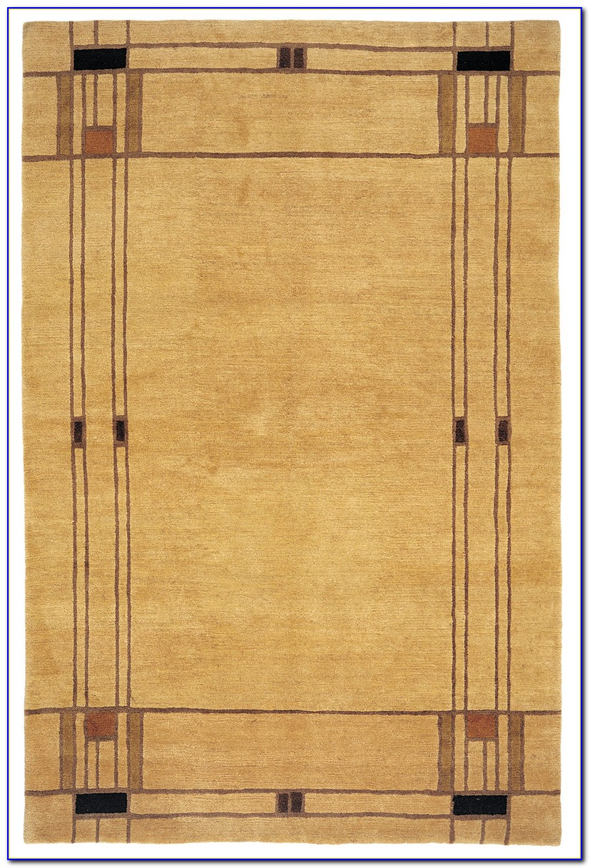 Mission Style Wool Area Rugs