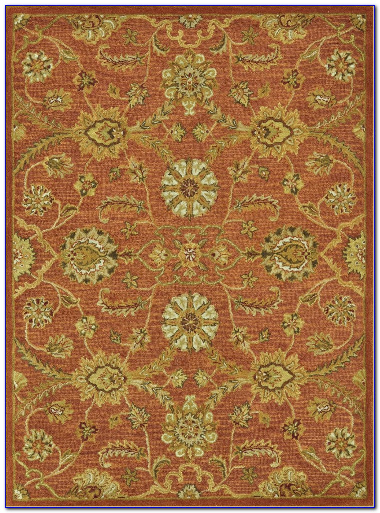 Mohawk Patchwork Rust Area Rug