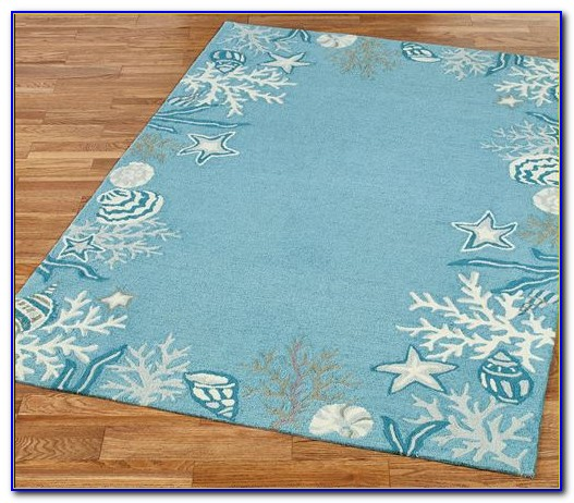 Ocean Themed Bathroom Rugs