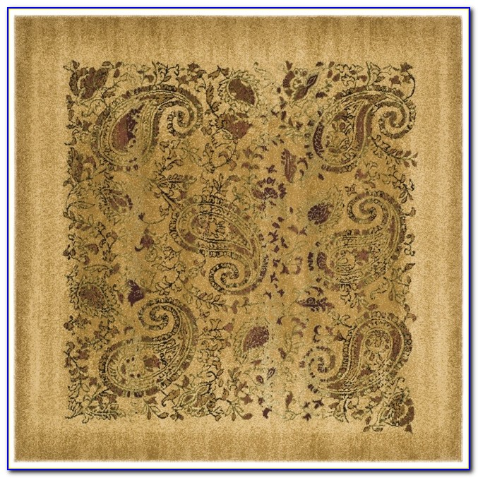 Orange Paisley Area Rug