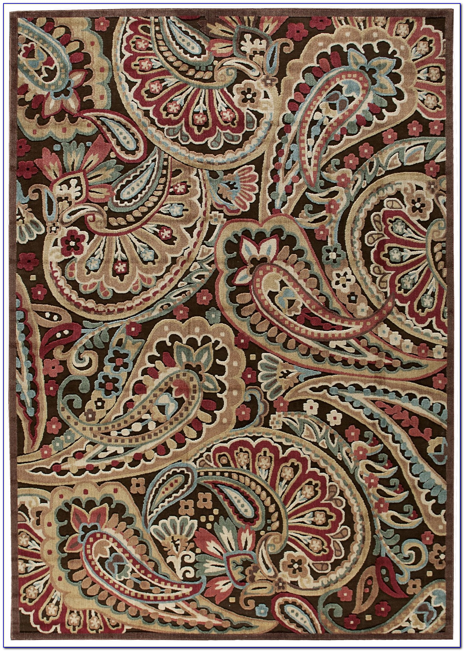 Paisley Wool Area Rugs