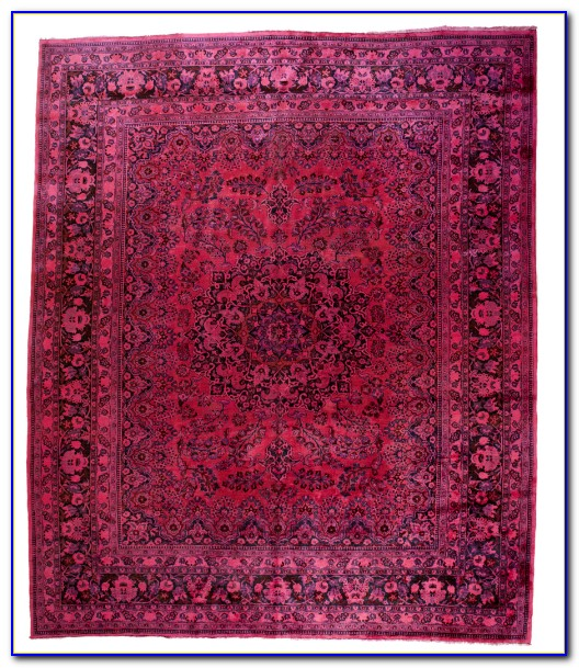 Pink And Purple Persian Rug