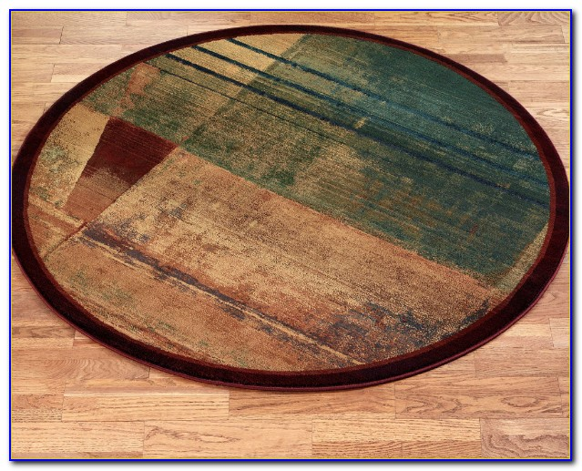 Round Abstract Area Rugs