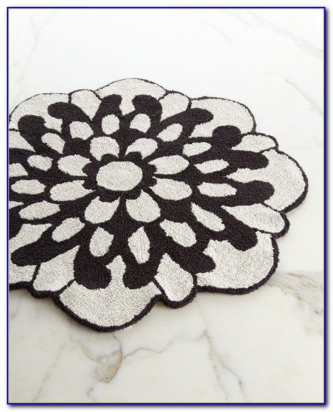 Round Flower Shaped Rug