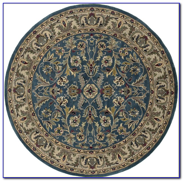 Round Oriental Rugs With Fringe