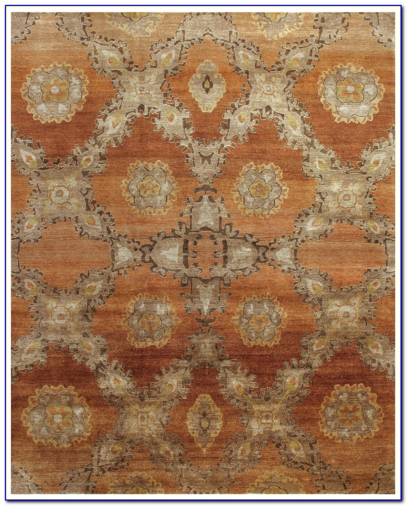 Rust Orange Area Rug