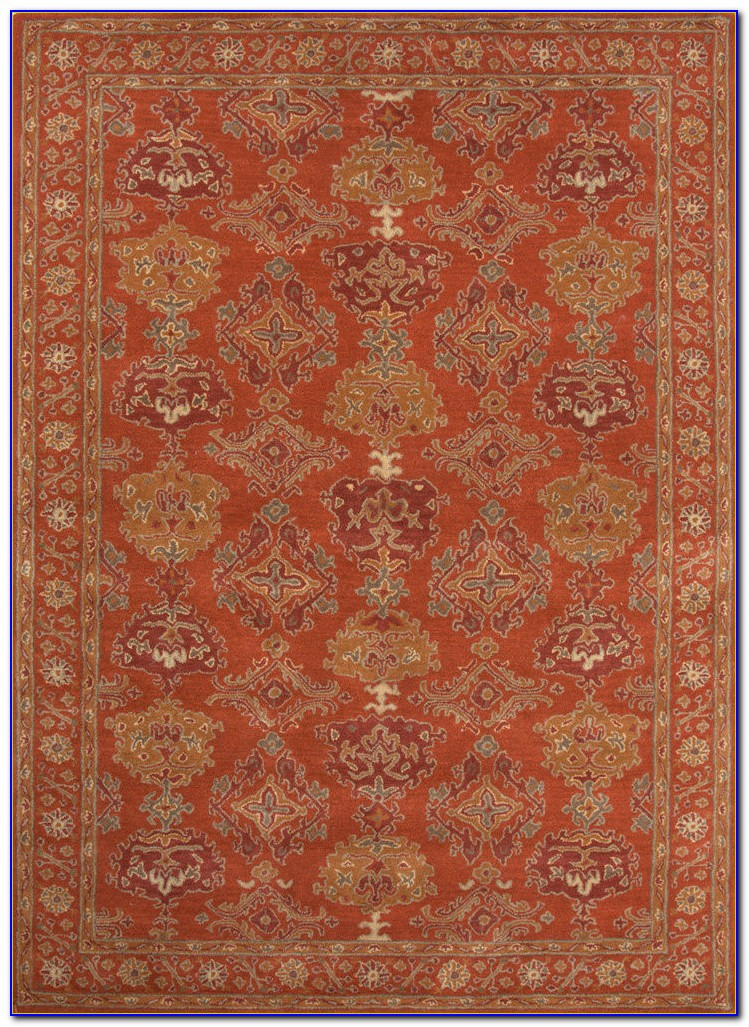 Rust Wool Area Rug
